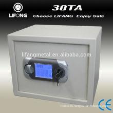 Caja fuerte electrónica con pantalla táctil LCD de los dedos