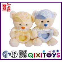 Vente chaude mini peluche ours en peluche photo cadre ornements