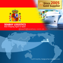 Competitive Ocean / Sea Freight to Spain From China/Tianjin/Qingdao/Shanghai/Ningbo/Xiamen/Shenzhen/Guangzhou