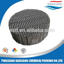 corrugated perforated metals for distillation tower packing
