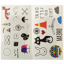 Stock Custom Temporary Waterproof Sticker Tattoo