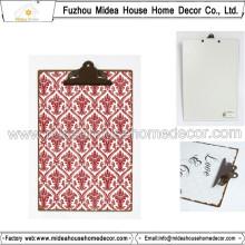 Metal/MDF Wooden Storage Clipboard