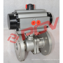 Flanged ball valve fast acting pneumatic valve