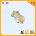 MC631 Personalisiert für Beutelzubehör Gold Metall Namensschild