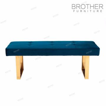Modern living room upholstery furniture fabric shoe storage ottoman
