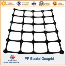 Géogrille biaxiale de polypropylène de pp en plastique avec le CE de certification