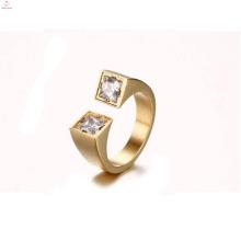 La moda diseña dos anillos de apertura de piedra Cz