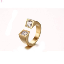 Fashion Designs Two Cz Stone Opening Rings Jewelry