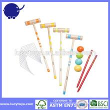 Игра лужайки 4 игрока деревянный croquet