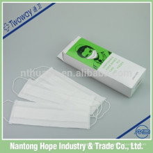 100pcs verpacken medizinische Wegwerfpapiergesichtsmaske