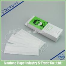 100pcs embalagem máscara de papel descartável médica
