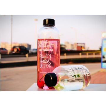 1000ml / 600ml Fashion Design Hitze Resitance Portable Glasflasche für Geschenke