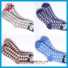 Prix bon marché chaud chaussure de cheville chaude chaussettes logo personnalisé