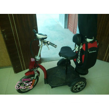 Three Wheel Electric Scooter with Golf Bag Holder (et-es002-g)