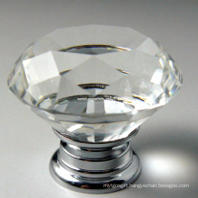 40mm Diamond Faces Fashion Furniture Decor Crystal Handles