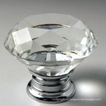 40 мм алмазной грани моды мебель Декор Кристалл ручки