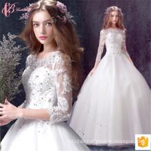2017 Alibaba Braut Brautkleider Kleider Beaded lange Hülle zum Verkauf