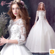 2017 Alibaba Bridal Wedding Dresses Gowns Beaded Long Sleeve For Sale