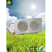 2 головки 7 * 1W 14w привели встроенный потолочный светильник AC85-265V 14leds