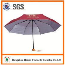 Günstigen Preisen!! Fabrik Lieferung zwei gefaltete Regenschirm mit krummen behandeln