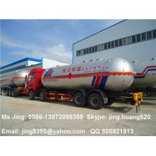 Venta caliente FAW 8 * 4 camión pesado del transporte del tanque del lpg 34500 litros capacidad en venta
