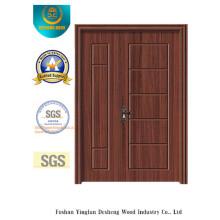 Puerta doble del estilo simple MDF a prueba de agua para la entrada (xcl-825)