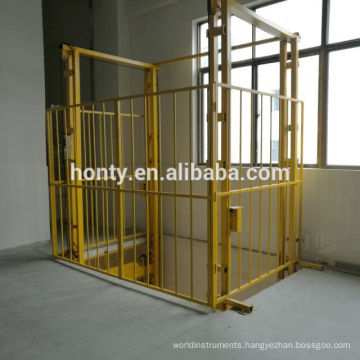 hydraulic warehouse vertical guide rail cargo lifts