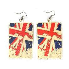Pendientes de la joyería del pendiente de la bandera BRITÁNICA de los regalos olímpicos 2013 FE04