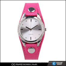 Japan movt бриллиант кварцевые часы из нержавеющей стали назад женщины