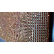 Hotfix rhinestone aluminium dasar mesh