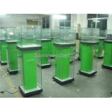 New Floor Standing Illuminating Glass Retail Store Commercial Mobile Cell Phone Display Showcase