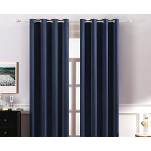 Amazon custom Basics cheap living Room Darkening Blackout Window white plain curtain Curtains with Grommets made in china