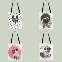 Custom durable soft canvas tote shopping bags