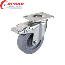 4inches Medium Duty Rotating Castor with TPR Wheel (with total brake)