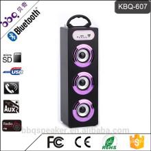 BBQ KBQ-607 15W 1200mAh battery Loud 3 sub woofer home bluetooth speakers 2016