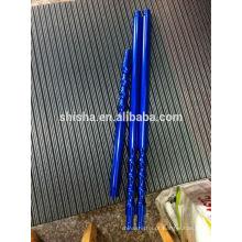 Mangueira de ponta do cachimbo de água longa ponta mangueira identificador ponta de metal shisha tubo ponta shisha alça alumínio