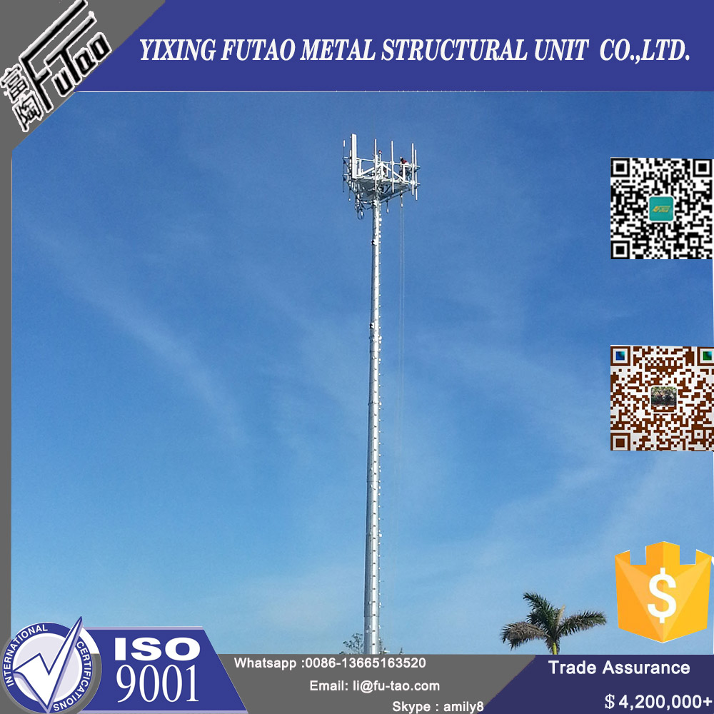 48M Communication Poles With Hot Dip Galvanized
