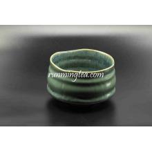 De alta calidad hecho a mano de vidrio verde cerámica Matcha Bowl