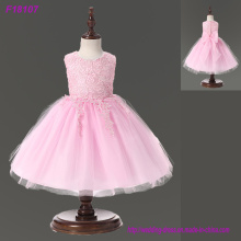 Spring Flower Girl Dresses Vintage Jewel Sash Lace Net Baby Girl Festa de Aniversário Christmas Princess Dresses Party Dresses
