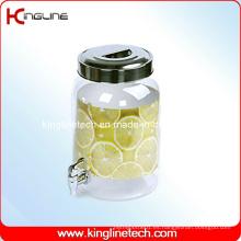 Botella de agua plástica redonda de 2.2 galones al por mayor BPA libre con la espita (KL-8014)