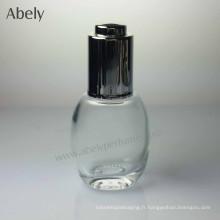 Bouteille d'huile de verre portative élégante et élégante de 35 ml
