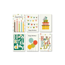 O partido brilhante feito sob encomenda projeta o cartão de aniversário