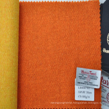 Colorful bespoke tweed fabric for making women's overcoating