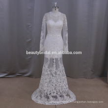 Mm004 véritable échantillon de robe de mariée avec jupe détachable