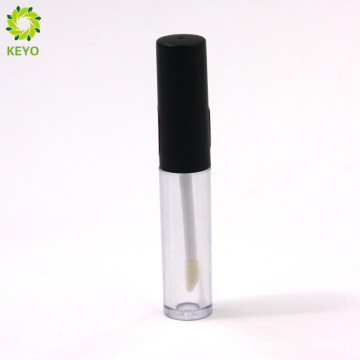 empty plastic clear lip balm tube lip gloss container with black lid