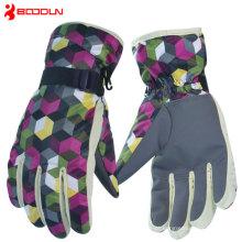 Luvas de Snowboard aquecidas de couro Goretex com zíper