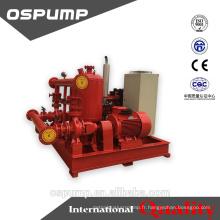 Ensemble de pompe à incendie diesel et électrique de 8 à 10 bar avec pompe jockey