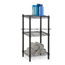 Epoxy 3 Tier Adjustable Steel Bathroom Wire Rack Shelving for Towel