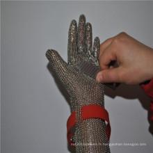 Gants de sécurité de boucher de fil d'acier inoxydable pour l'abattoir