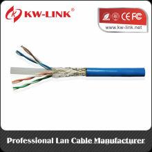 Shenzhen Fabrik Aluminium Folie Abschirmung SFTP Lan Kabel Cat6 1000ft / Rolle 23AWG 4p